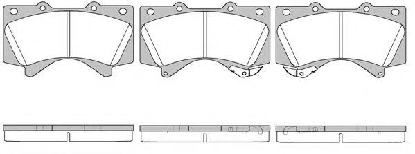 Колодки гальмівні дискові передні, комплект ROADHOUSE 2127102