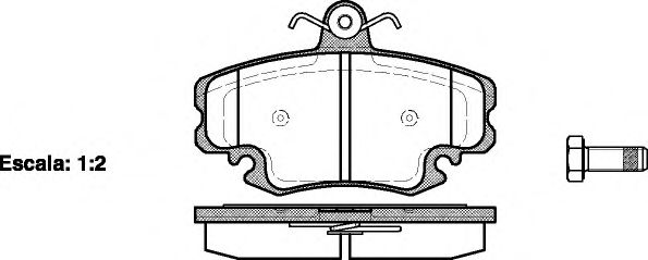 Колодка торм. DACIA LOGAN, SANDERO, передн. (пр-во REMSA)                                             арт. 014120