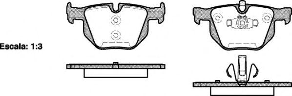 Колодка торм. BMW 3 (E90,E93,E92,E91), 5 (E60) задн. (пр-во REMSA)                                    арт. 038170