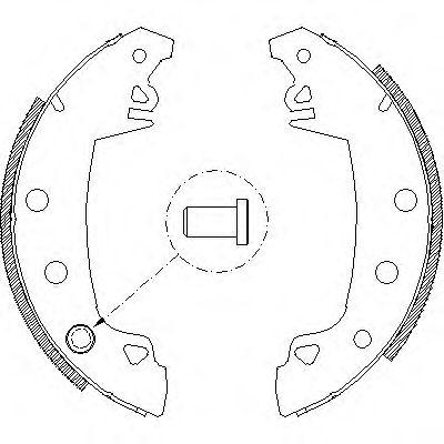 Комплект тормозных колодок LPR арт. 401701
