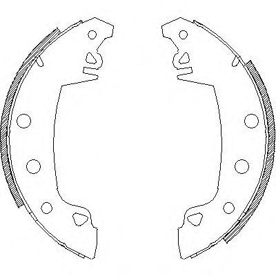 Колодки тормозные барабанные, комплект LPR арт. 401702