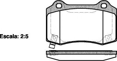 Гальмiвнi колодки дискові зад. Jeep Commander, Grand Cherokee III 3.0Crd-5.7 06.05-12.10 REMSA 043454