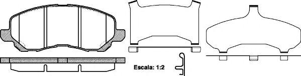 Колодки гальмівні дискові  арт. 080431