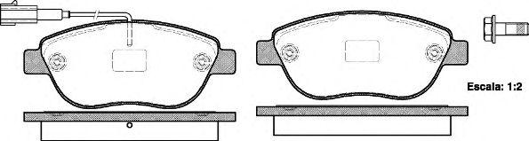 Колодка торм. FIAT DOBLO (152) (263) (02/10-) передн. (пр-во REMSA)                                   арт. 085911