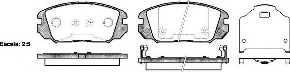 Колодка торм. HYUNDAI SONATA, HONDA CIVIC передн. (пр-во REMSA)                                       арт. 120402