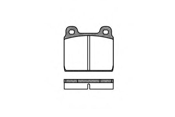 Колодка торм. VAG TIII -92 передн. (пр-во REMSA)                                                      арт. 000200