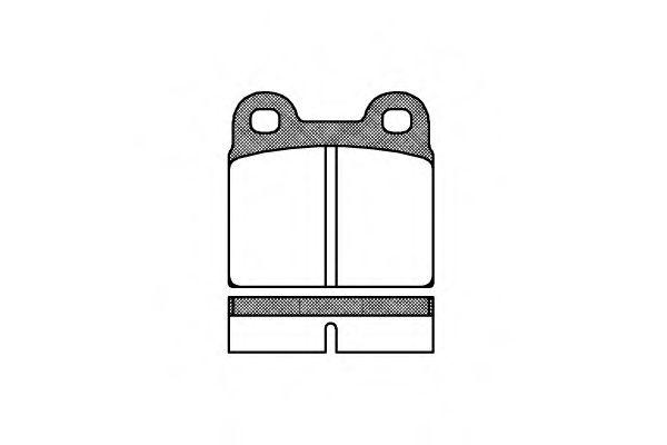 Комплект тормозных колодок, дисковый тормоз  арт. 000700