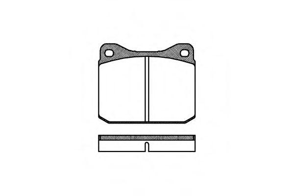 0010.00  REMSA - Гальмівні колодки до дисків REMSA 001000