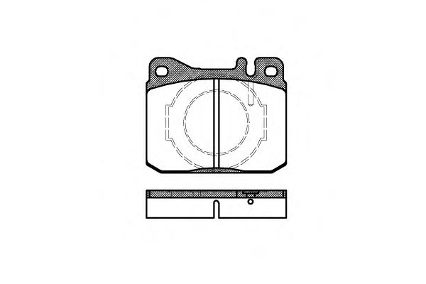 Колодка торм. MB S-CLASS передн. (пр-во REMSA)                                                       BOSCH арт. 001040