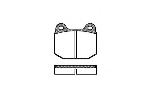 Колодки гальмівні дискові  арт. 001400