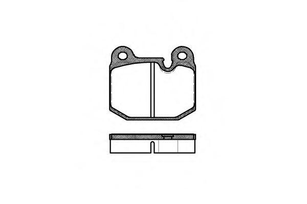 Колодки гальмівні дискові REMSA арт. 001410