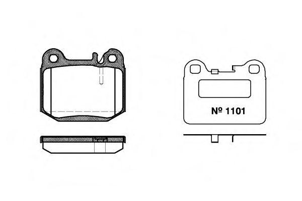 Гальмівні колодки дискові зад. DB M-Class ML430 98- ML55AMG 00-  REMSA 001440
