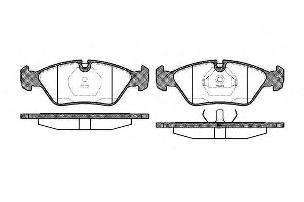 Колодка торм. BMW 3 series (E30)(09/82-01/92) передн. (пр-во REMSA)                                   арт. 013900