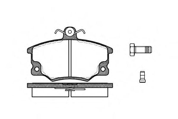 Колодка торм. FIAT TEMPRA 1.4,1.6 90-97 передн. (пр-во REMSA)                                         арт. 014614