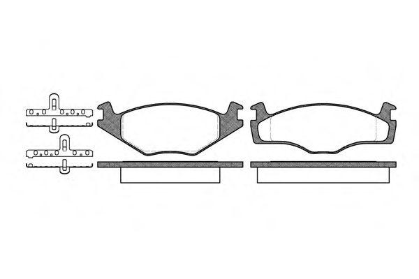 0171.10  REMSA - Гальмівні колодки до дисків REMSA 017110