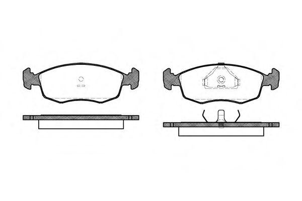 Колодка торм. FORD ESCORT передн. (пр-во REMSA)                                                       арт. 017200