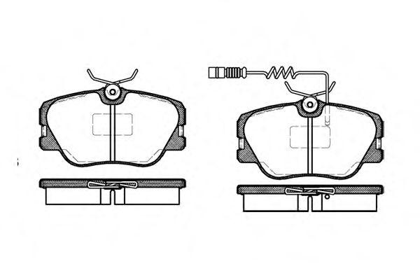 Колодка торм. MB 190 (W201), E-CLASS (W124) передн. (пр-во REMSA)                                    LPR арт. 018902