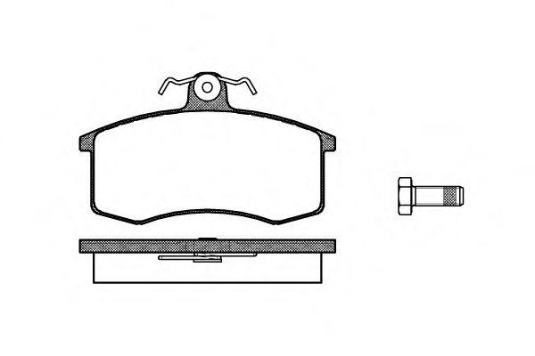 Колодка торм. LADA (2108, 2109, 21099) передн. (пр-во REMSA)                                          арт. 022100