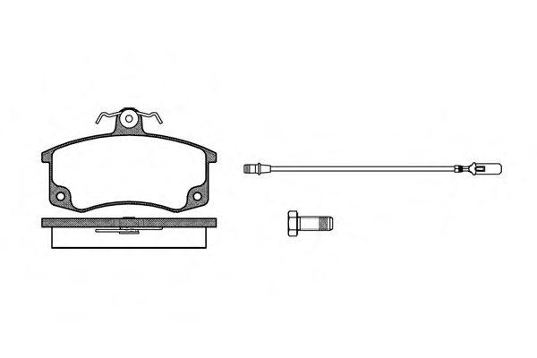 Колодка торм. ВАЗ 2108-09, 2110-12 перед. (пр-во REMSA)                                               арт. 022102