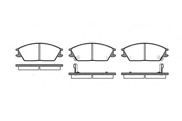 Колодка торм. HYUNDAI ACCENT передн. (пр-во REMSA)                                                    арт. 022402