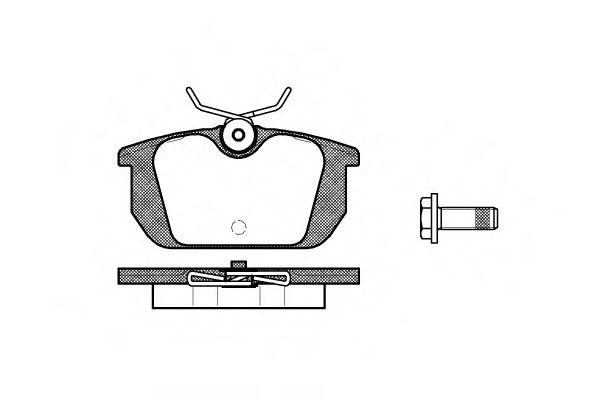 Комплект тормозных колодок, дисковый тормоз  арт. 023100