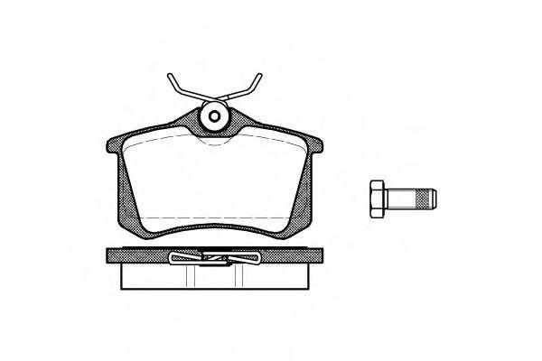 Колодка торм. AUDI A4 1.8-2.5 -04,A6 -05;VW GOLF II-III -98,PASSAT -00 задн. (пр-во REMSA)           REMSA арт. 026301