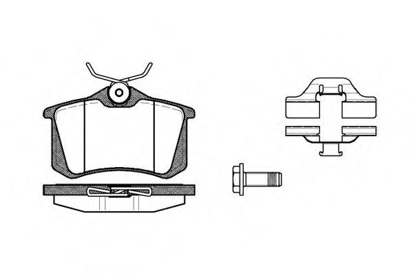 Комплект тормозных колодок, дисковый тормоз  арт. 026303