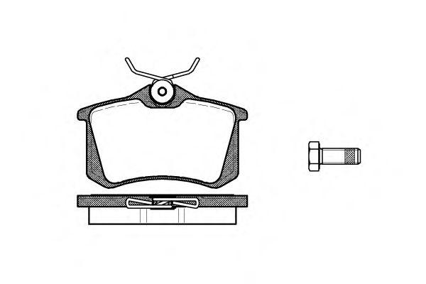 Колодка торм. SEAT IBIZA, VW GOLF, RENAULT CLIO задн. (пр-во REMSA)                                  TRW арт. 026310