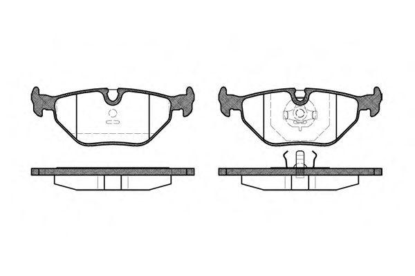 Колодка торм. BMW 3 (E30,E36), 5 (E28,E34) задн. (пр-во REMSA)                                        арт. 026500