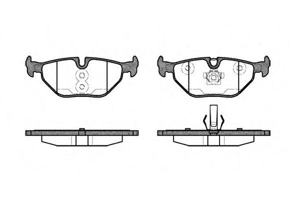Колодка торм. BMW 3 (E46) задн. (пр-во REMSA)                                                         арт. 026540