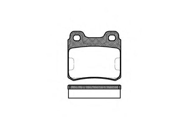 Колодка торм. SAAB 9000 (09/84-12/98) задн. (пр-во REMSA)                                             арт. 028200