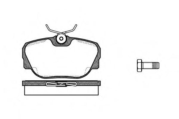 Колодка торм. BMW 3 (E30) 82-94 передн. (пр-во REMSA)                                                 арт. 029600
