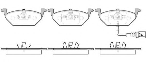 Колодка торм. AUDI A3, SEAT, SKODA,VW передн. (пр-во REMSA)                                          REMSA арт. 063341