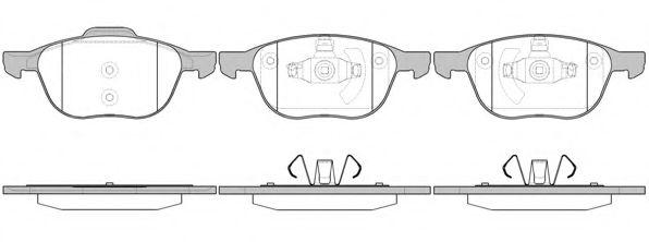 Колодка торм. FORD FOCUS, MAZDA 3,5, VOLVO C70, S40, передн. (пр-во REMSA)                           ABS арт. 108200