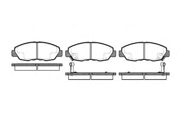 Тормозные колодки (пр-во Remsa)                                                                       арт. 032402