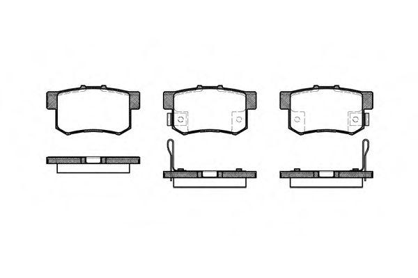 Колодка торм. HONDA ACCORD IV (CB3, CB7) (11/89-10/93) задн. (пр-во REMSA)                            арт. 032512