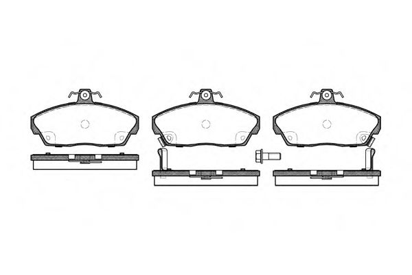 Колодка торм. HONDA CIVIC передн. (пр-во REMSA)                                                      ASHIKA арт. 033702