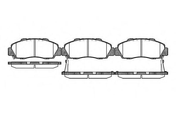 Колодка торм. HONDA CR-V I (10/95-07/02) передн. (пр-во REMSA)                                        арт. 035132