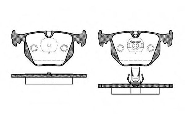 Колодка торм. BMW 3 (E46) задн. (пр-во REMSA)                                                         арт. 038120