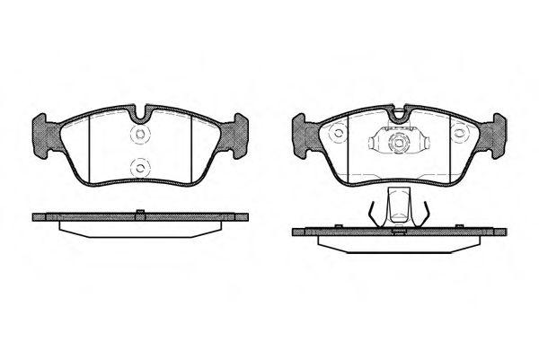 Колодка торм. BMW 3 (E46) передн. (пр-во REMSA)                                                       арт. 038440