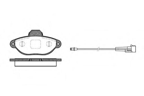 Комплект тормозных колодок, дисковый тормоз  арт. 041401