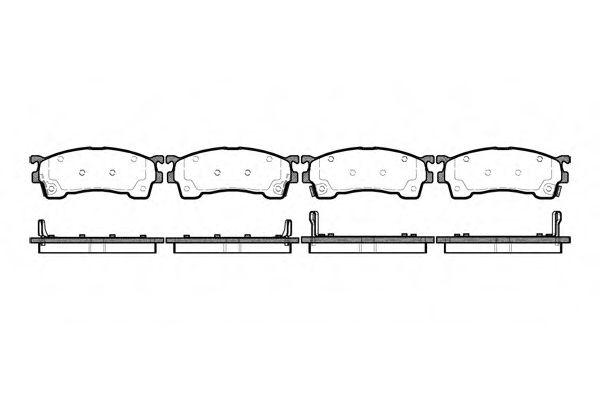 Колодка торм. MAZDA 626 передн. (пр-во REMSA)                                                        REMSA арт. 041504