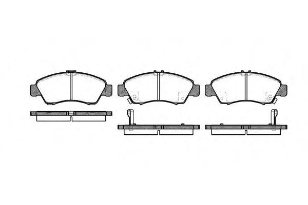 Колодка торм. HONDA CIVIC передн. (пр-во REMSA)                                                       арт. 041902
