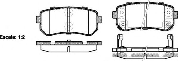 Колодка торм. HYUNDAI ACCENT, i30, задн. (пр-во REMSA)                                                арт. 120902