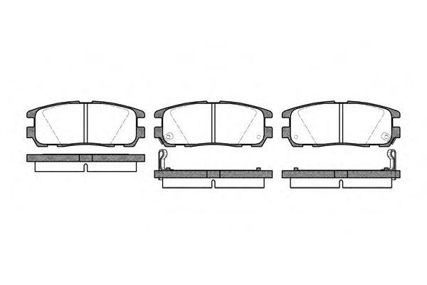 Колодка торм. GREAT WALL HOVER H3, OPEL FRONTERA задн. (пр-во REMSA)                                  арт. 042602