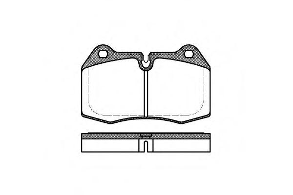 Колодка торм. BMW 5 (E34), 7 (E38), 8 (E31) передн. (пр-во REMSA)                                     арт. 044100