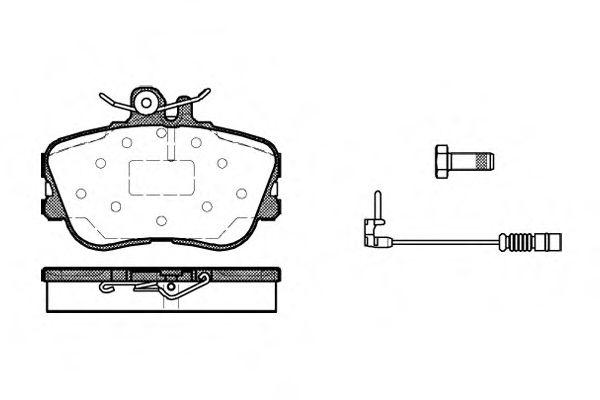 Колодка торм. MB C-CLASS (W202) передн. (пр-во REMSA)                                                LPR арт. 044502