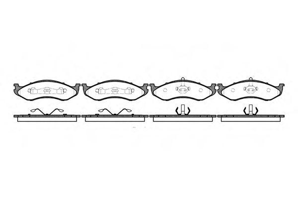 Комплект тормозных колодок, дисковый тормоз  арт. 046700
