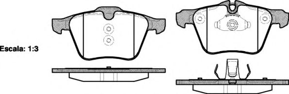 Колодка торм. FORD MONDEO 2007 2.5, S-MAX 2 передн. (пр-во REMSA)                                     арт. 121700