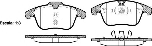 Колодка торм. FORD MONDEO, передн. (пр-во REMSA)                                                      арт. 121900